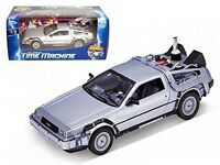 Welly 1/24 Scale Diecast Metal Delorean Time Machine Back To The Future Part Ii on sale