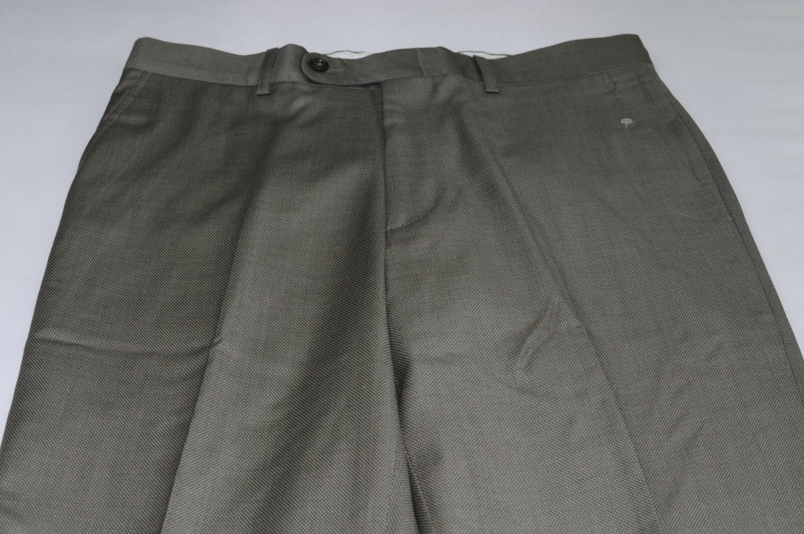 NWOT Linea Naturale Men's 100% Wool Flat Front Dress Pants 32 Made in
