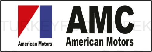 """AMERICAN MOTORS  6/"""" x 18/"""" ALUMINUM Sign"""