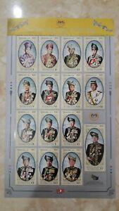 Malaysia-2019-Stamps-Sheetlet-of-YDP-Agong-XV-SE-Seies-III-MNH