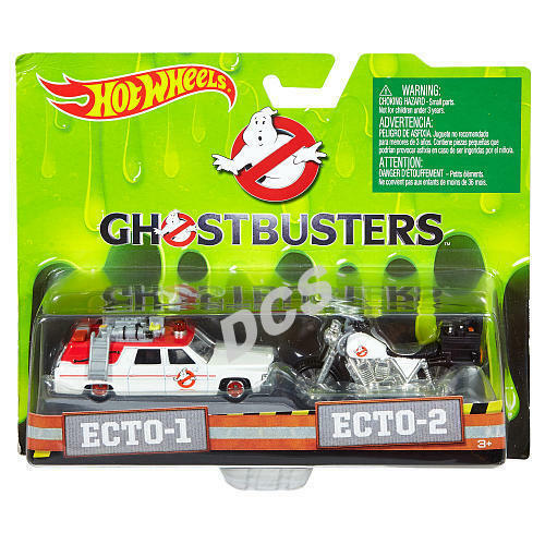 CASE HOT WHEELS 1:64 GHOSTBUSTERS Ecto 1 CADILLAC AMBULANCE Ecto 2 MOTORCYCLES