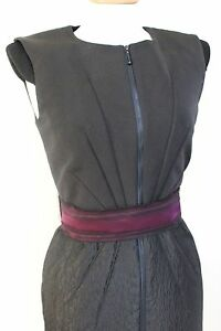 Roksanda-Ilincic-Black-jacquard-sash-dress-uk-10