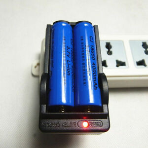Battery-3-7V-Charger-Universal-For-18650-US-Plug-Rechargeable-Li-ion-Dual-2019-R