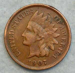 1907-Indian-Head-Cent-Penny-Very-Nice-Old-Coin-Liberty-Fast-S-amp-H-263