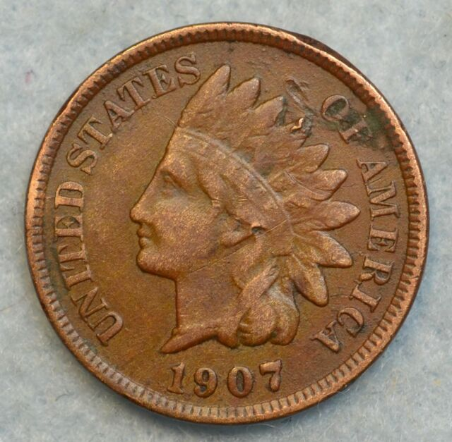 1907 Indian Head Cent Penny Very Nice Old Coin Liberty Fast S&H 263