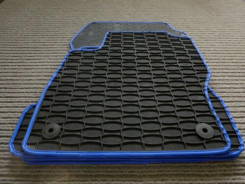 Gummi- Fußmatten RAND BLAU $$$ Lengenfelder Gummimatten für Seat Arona NEU