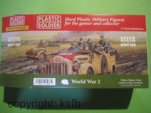 1:72 Plastic Soldier 20031 WKII Deutscher Steyr schwerer Wagen Zug Protze Armee