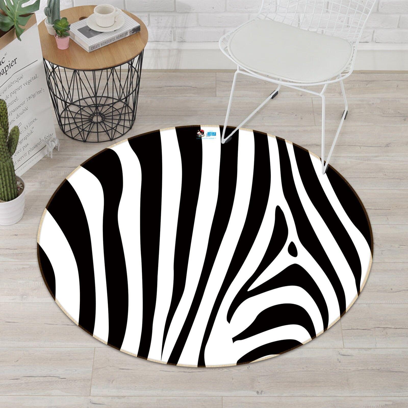 3D Line Art 47 Non Slip Rug Mat Room Mat Round Elegant Photo Carpet US Summer