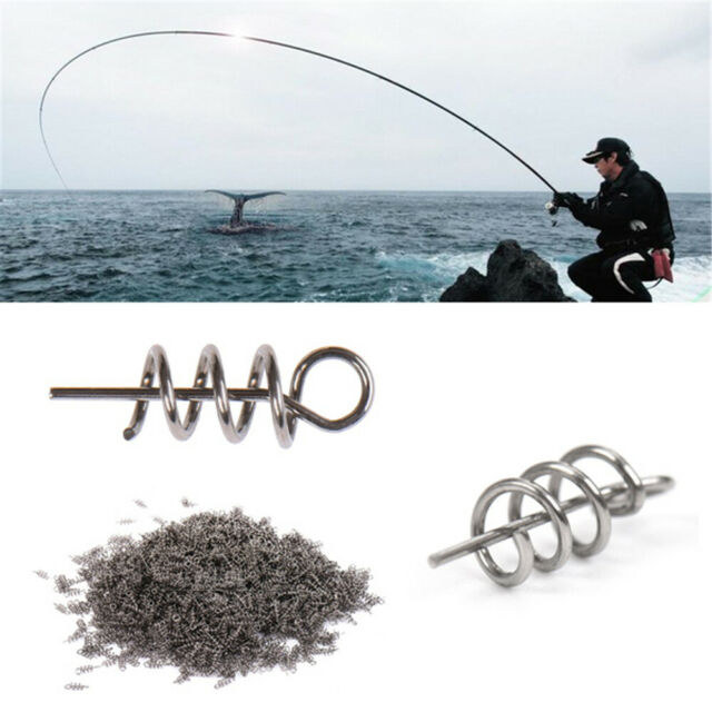 Fishing Tools Needle Crank Lock Centering Fishing Hook Soft Bait Spring Twist