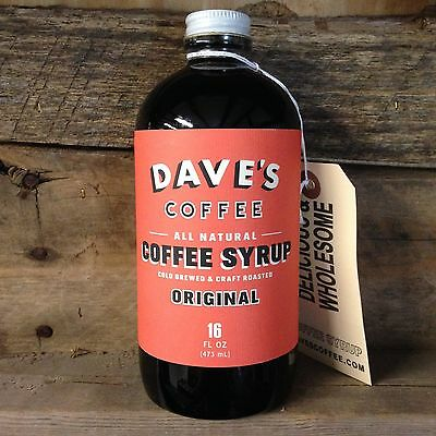 Dave's Coffee: All Natural Cold Brewed Coffee Syrup, 16 oz Bottle