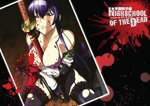 HIGH SCHOOL OF THE DEAD ANIME MANGA A3 POSTER AMK1129 | eBay