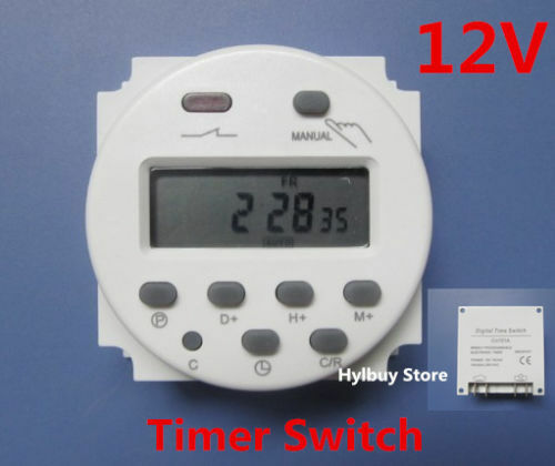 16A DC 12V Digital LCD Display  Programmable Time Counter Timer Switch Relay UK