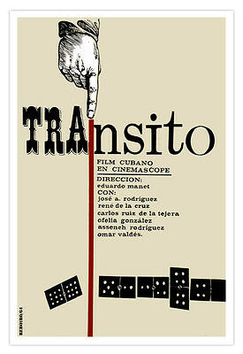 "Cuban decor Graphic Design movie Poster for film/""TRANSIT/""Domino art.Double 9"