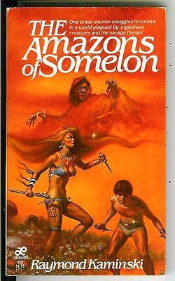 THE AMAZONS OF SOMOLON, rare US Leisure heroic fantasy gga pulp vintage pb