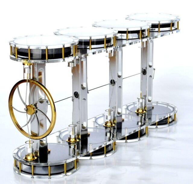 SOLAR EIGHT CYLINDER Stirling engine - no steam machine - amazing physics toy