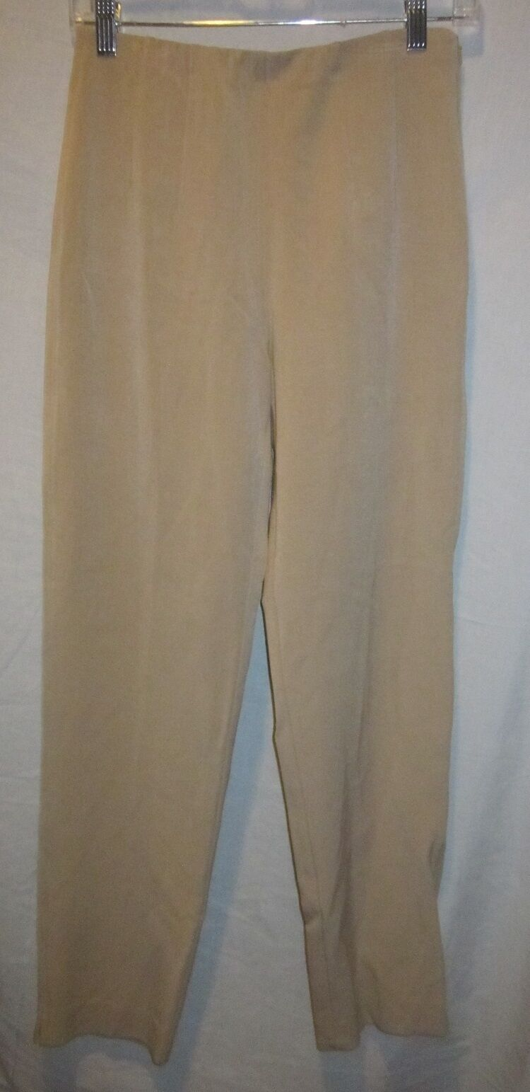 SIGRID OLSEN POLYESTER BLEND TAUPE CASUAL PANTS SZ 4P NWOTS  119 RETAIL