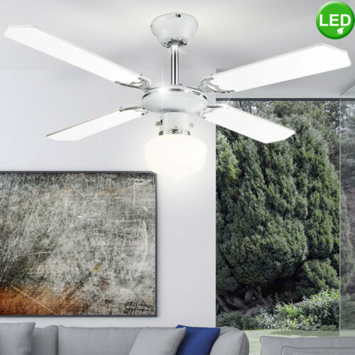 LED Decken Ventilator Lüfter RGB Fernbedienung Leuchte dimmbar Küche Kühler Büro