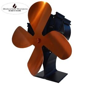 LOTUS-4-BLADES-Heat-powered-stove-Ecofan-wood-combustion-heater-Gold