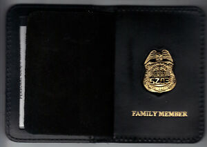 """NY//NJ Police-Style-Sergeant Family Member Cut-Out Letters 1/"""" Mini Pin Wallet"""