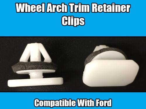 10x Clips Para Ford Transit /& Conectar Rueda Arch Trim retén de plástico blanco