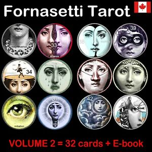 fornasetti-tarot-card-cards-deck-rare-major-arcana-vintage-oracle-book-guide-set