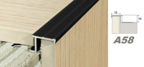 A58 2 Meter Alu eloxiert Stufenleiste Stufenprofil Fliesenleiste 10mm