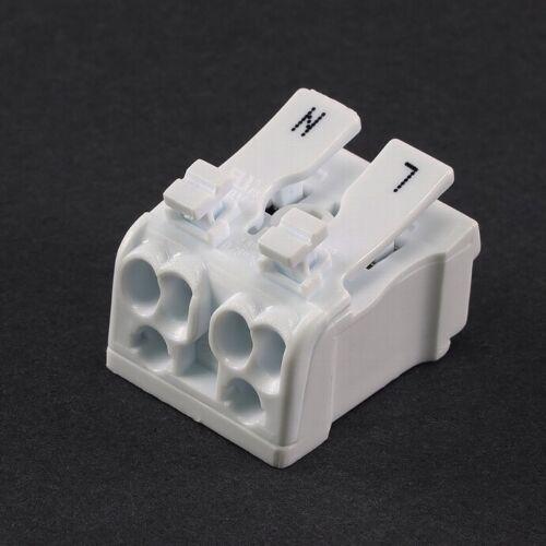 Komfort Lüsterklemme mit Hebel 2//3 polig Verbindungsklemmen Steckklemmen Leuchte