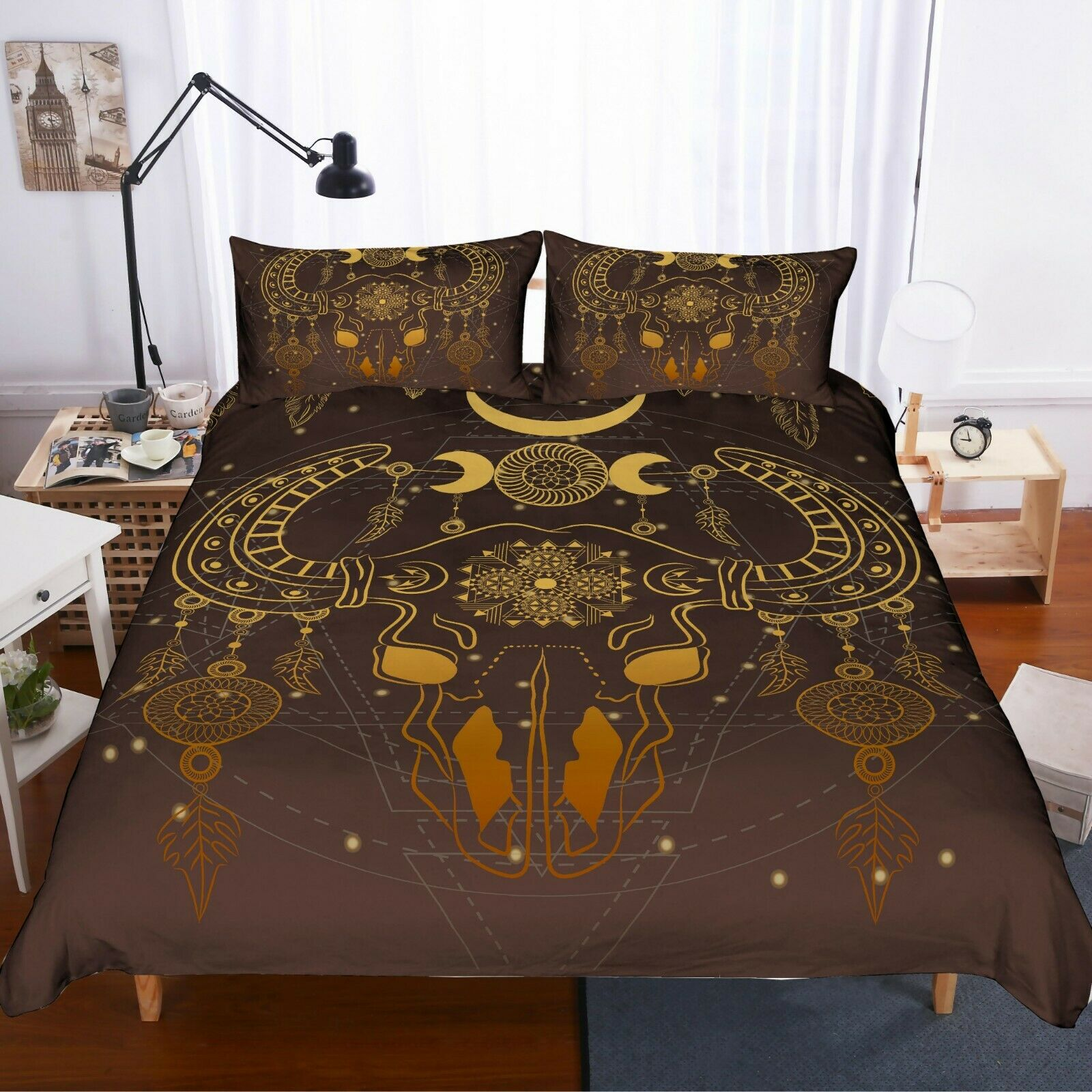 3D Gold Stamping Jemmy Quilt Cover Set Bedding Duvet Cover Single Queen King 2