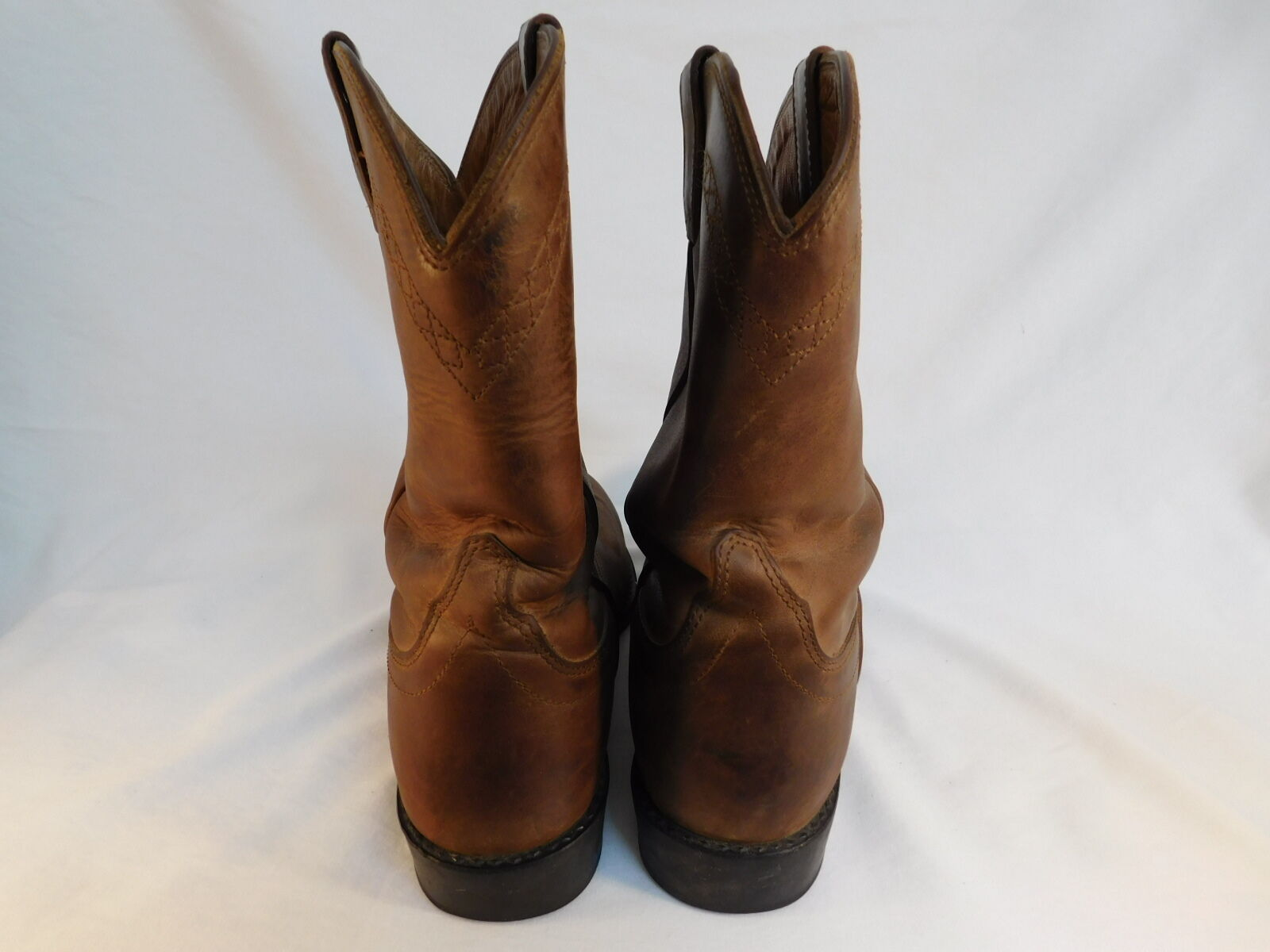 ARIAT COWBOY BOOTS ATS EQUIPPED BROWN LEATHER CONDITION! A2-CLASSIC EXCELLENT CONDITION! LEATHER 7b4618
