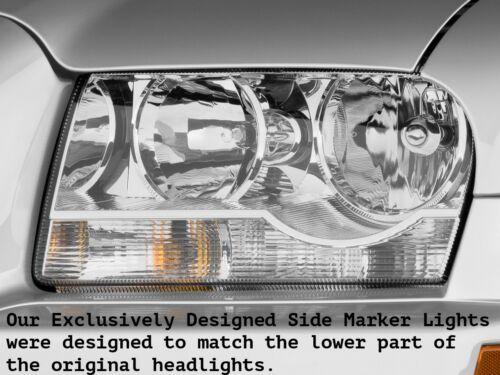 CHRYSLER 300 300C SRT8 CLEAR CHROME BUMPER SIDE MARKER LIGHTS 2005-2010