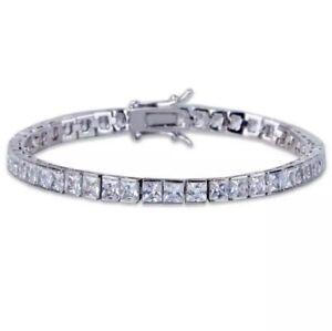 14k-White-Gold-Over-925-Sterling-Silver-Square-White-Diamond-Tennis-Bracelet