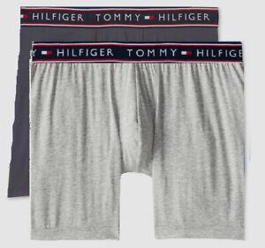 3 GENUINE TOMMY HILFIGER BLACK RED GRAYS COTTON SIZES S M L XL BOXER BRIEFS