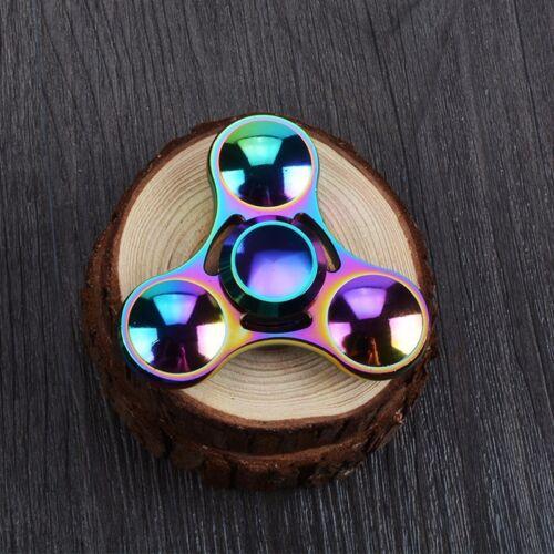 Rainbow Zinc Alloy High Speed Focus Toys Finger Spinner UFO Fidget Spinner