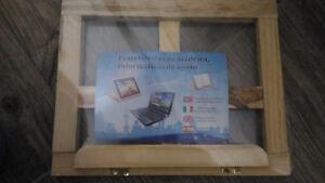 Leggio-Grande-Libro-Supporto-Spartiti-Musicali-Pieghevole-Legno-Tablet-Portatile