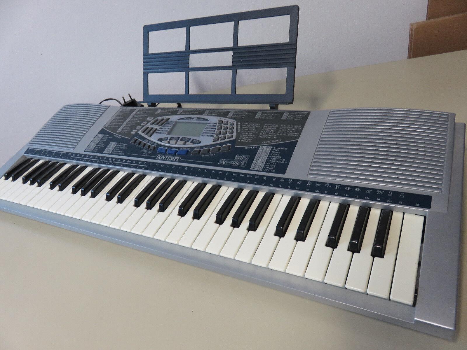 Bontempi Keyboard PM 694 mit Notenständer, Netzteil und Handbuch