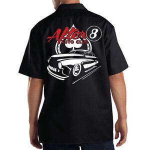 Dickies-Black-Mechanic-Work-Shirt-After-8-Auto-Club-Chop-Shop-Hot-Rat-Rod-Car