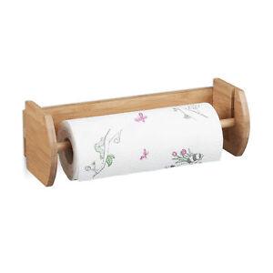 Wand Kuchenrollenhalter Bambus Papierrollenhalter Rollenhalter