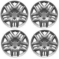 """Phantom 14"""" Car Wheel Trims Hub Caps Plastic Covers Silver Universal (4Pcs)"""