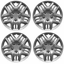 "Phantom 14"" Car Wheel Trims Hub Caps Plastic Covers Silver Universal (4Pcs)"