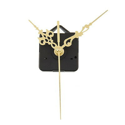 Quality Quartz Clock Movement Mechanism Parts DIY Tool Set with Gold Hands #2