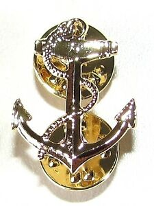 Canadian-Navy-Naval-Gold-Plated-Anchor-Lapel-Pin