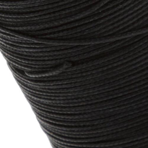 2 Rollen Nähen Runde Gewachste String Thread Spulen 0,6 mm Leder Handwerk