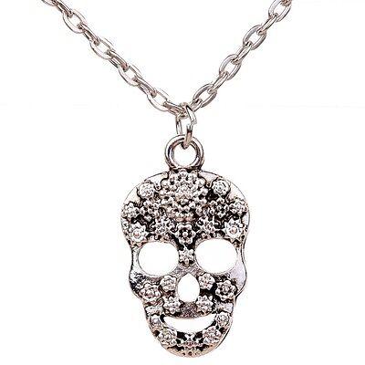 Fashion Skull Style Sweater Chain Choker Chunky Statement Bib Necklace Jewelry