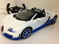 Bugatti Veyron Radio Remote Control Car Led Lights 1/14 Official Licensed White