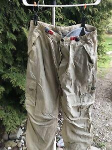 Cadena De Traccion A87 Tan Cargo Pantalones De Hombre Aeropostale Boton Grande Ebay