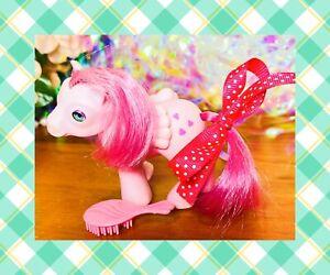 ❤️My Little Pony MLP G1 Vtg 1986 BABY Heart Throb Beddy Bye Eye Pink Hearts❤️