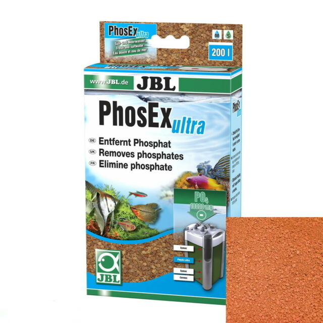 JBL PhosEX ultra 340 g Phos EX Phosphat Entfernung Filter für Süß-und Salzwasser