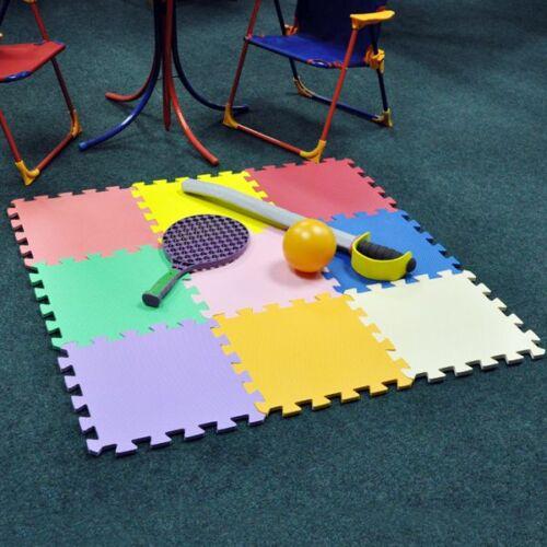 Large 9 Pcs Kids Baby Children Soft Foam Play Floor Mat Set Interlocking Puzzle