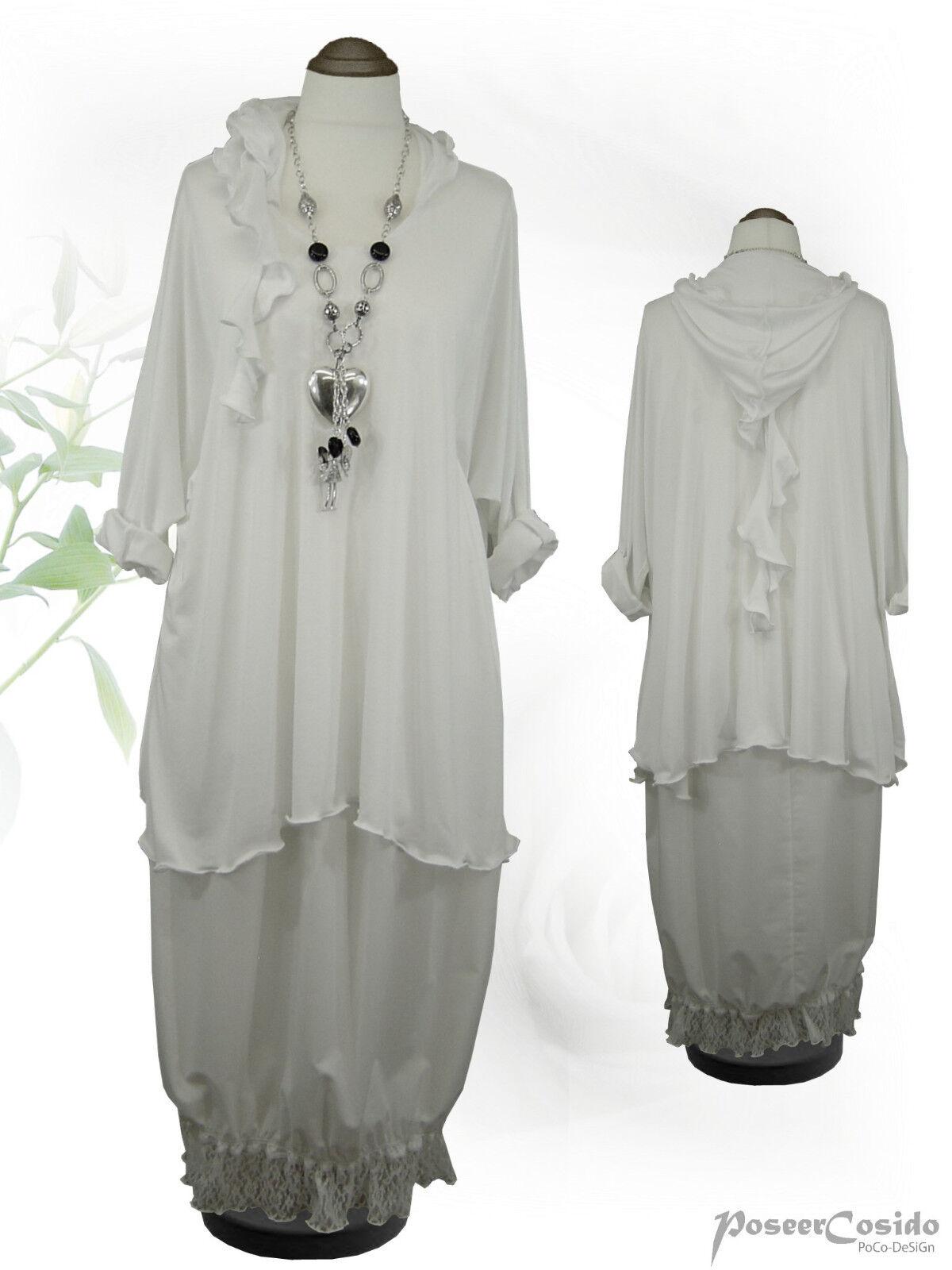 PoCo DeSiGn LAGENLOOK Basic Hoodie Shirt Tunika Zipfelkapuze 42-58 L XL XXL XXXL