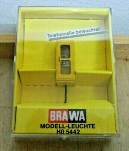 Brawa 5442 H0 Telefonzelle gelb FeH 78 Beleuchtet Neu in OVP